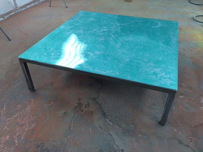 custom finished metal coffee table Fine Art Custom Furniture Boulder Denver Colorado
