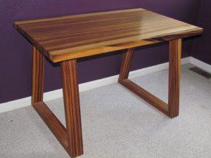 Zebra Wood Writer's desk Fine Art Custom Furniture Boulder Denver Colorado