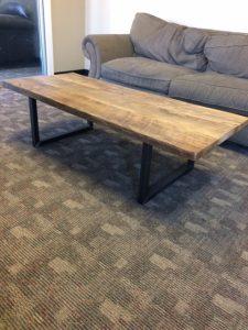 Reclaimed Wood Coffee Table Fine Art Custom Furniture Boulder Denver Colorado
