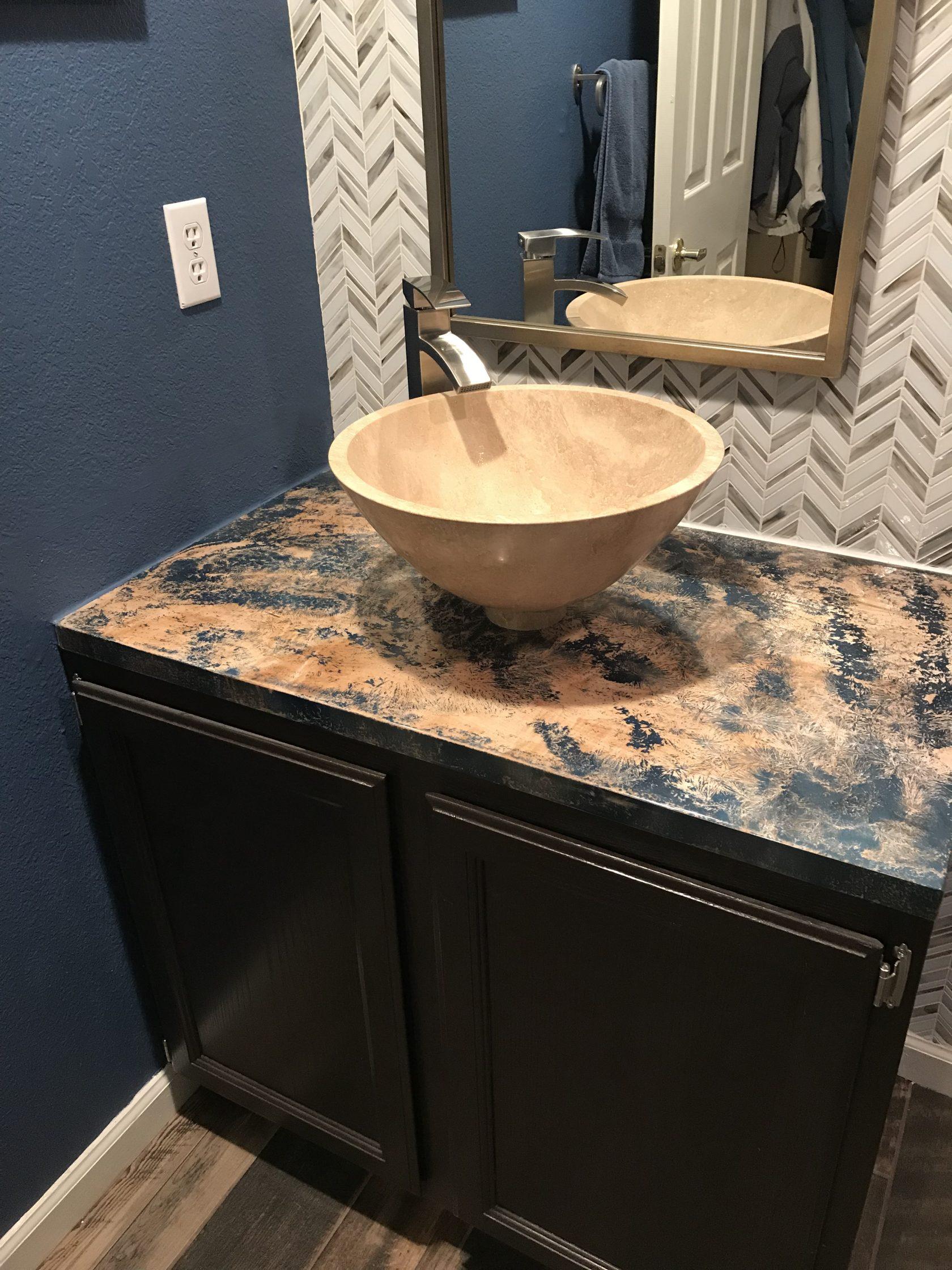 bathroom countertop fine art custom furniture boulder denver colorado