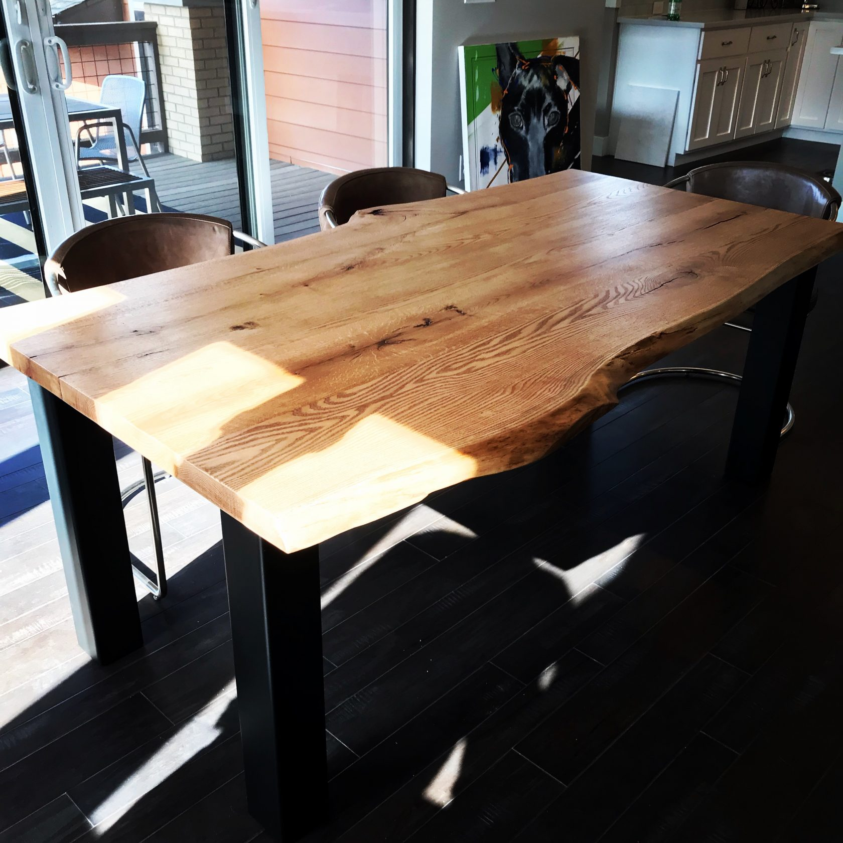 Tremendous Paulo Silva Fine Art Design Live Edge Oak Dining Table Home Interior And Landscaping Sapresignezvosmurscom