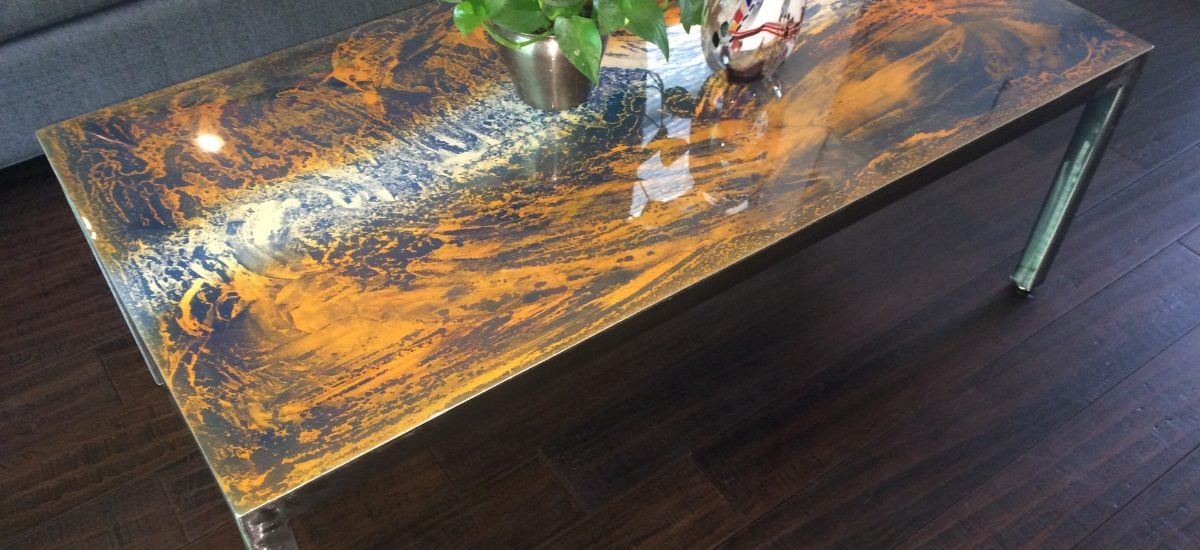 Abstract Metal Coffee Tables